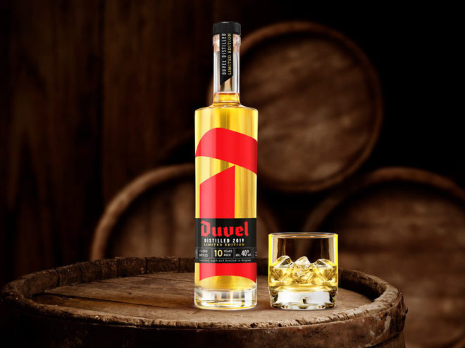 DUVEL DISTILLED 2019 : aged on barrels for ten years.